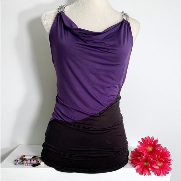 Body Central Sale >> Tops Sale Body Central Black And Purple Top Poshmark